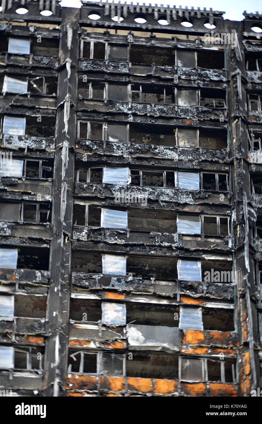 Grenfell tower fire, London - Stock Image