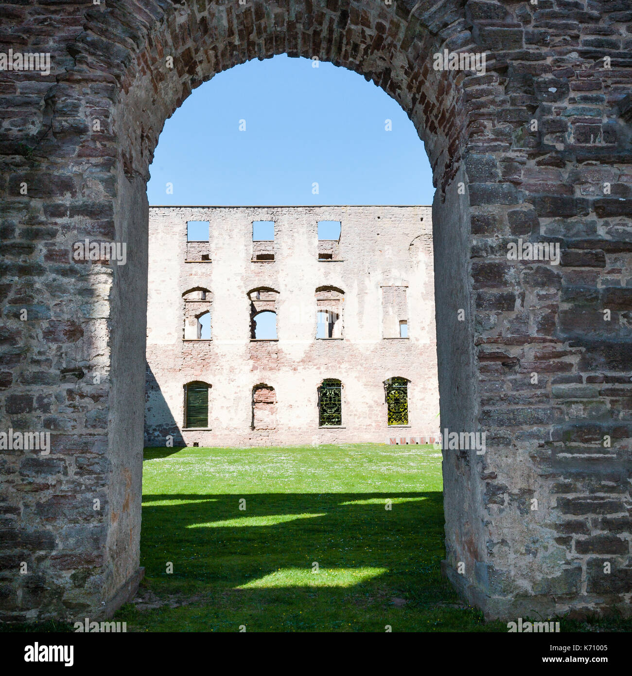 detail of the fortress Borgholm Castle in Öland Sweden Stock Photo