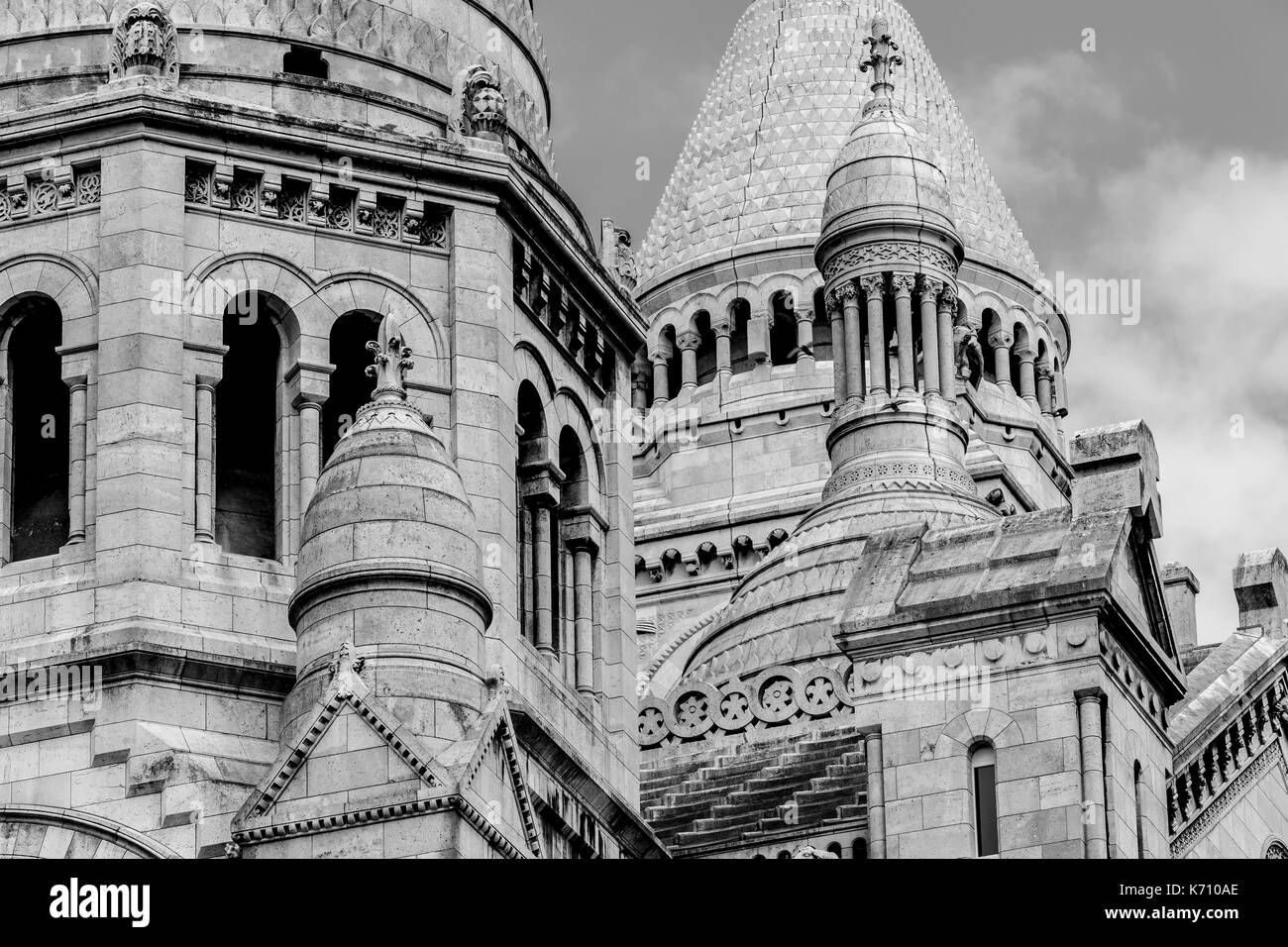 Close up View of the Dome of Sacre Coeur in Paris - Stock Image