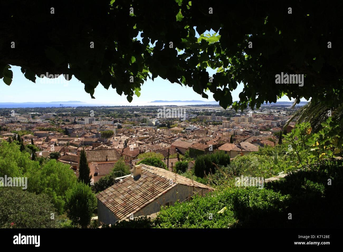 France Var Hyeres Jardin Du Castel Sainte Claire Terraced