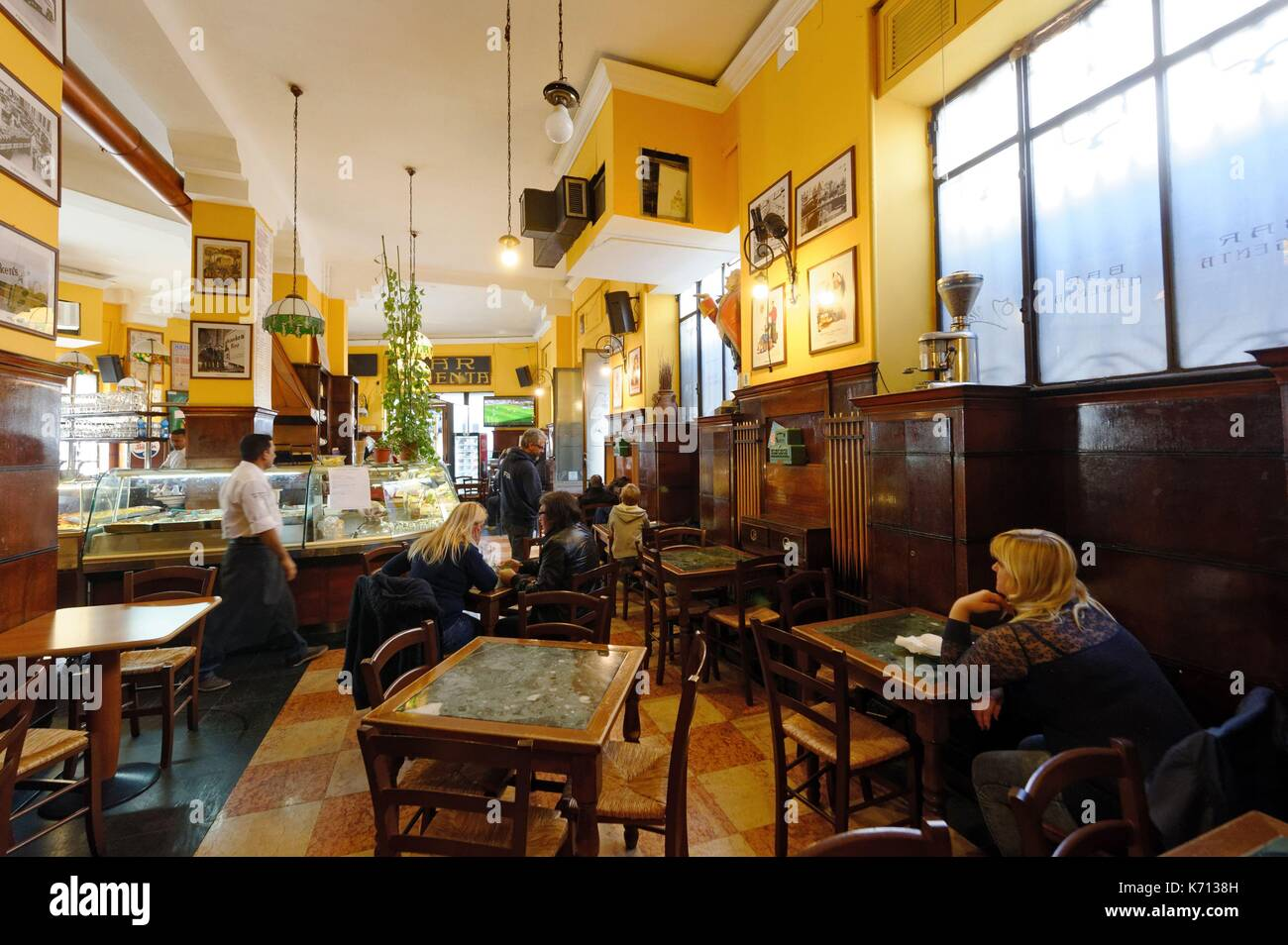 Italy, Lombardy, Milan, Magenta district, Bar Magenta - Stock Image