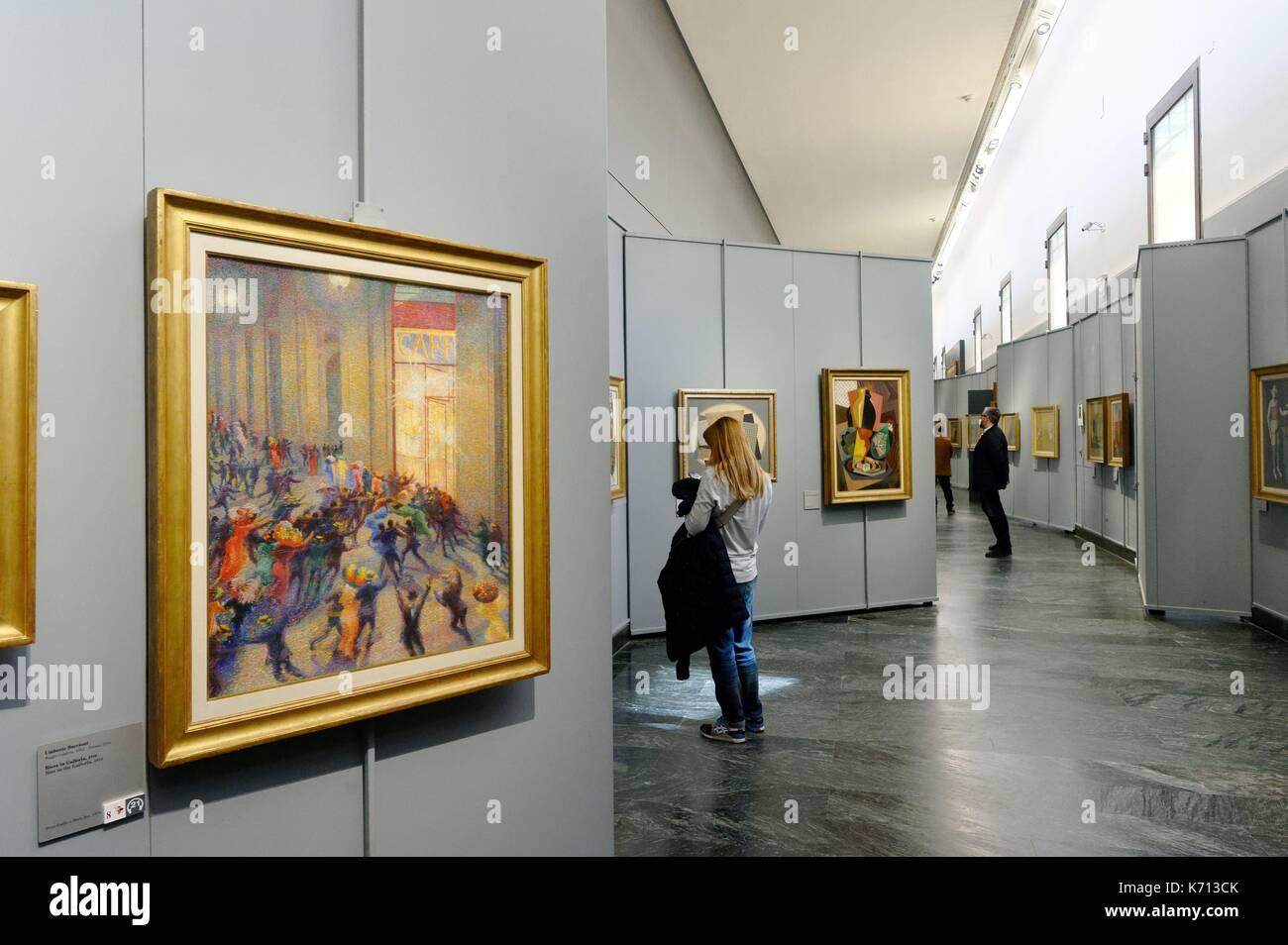 Italy, Lombardy, Milan, baroque palace Brera, Brera Pinacoteca (Pinacoteca di Brera), fine Arts Museum, Riot in - Stock Image