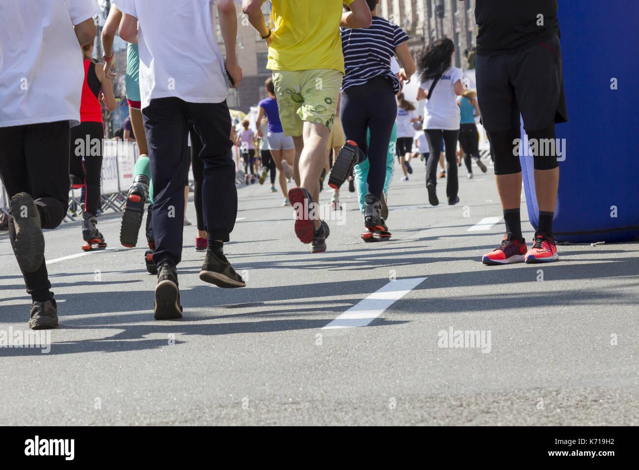 nouveau produit 54f3b 7380f Ukraine, Kiev, Intersport Ukraine 10.09.2017 Marathon ...