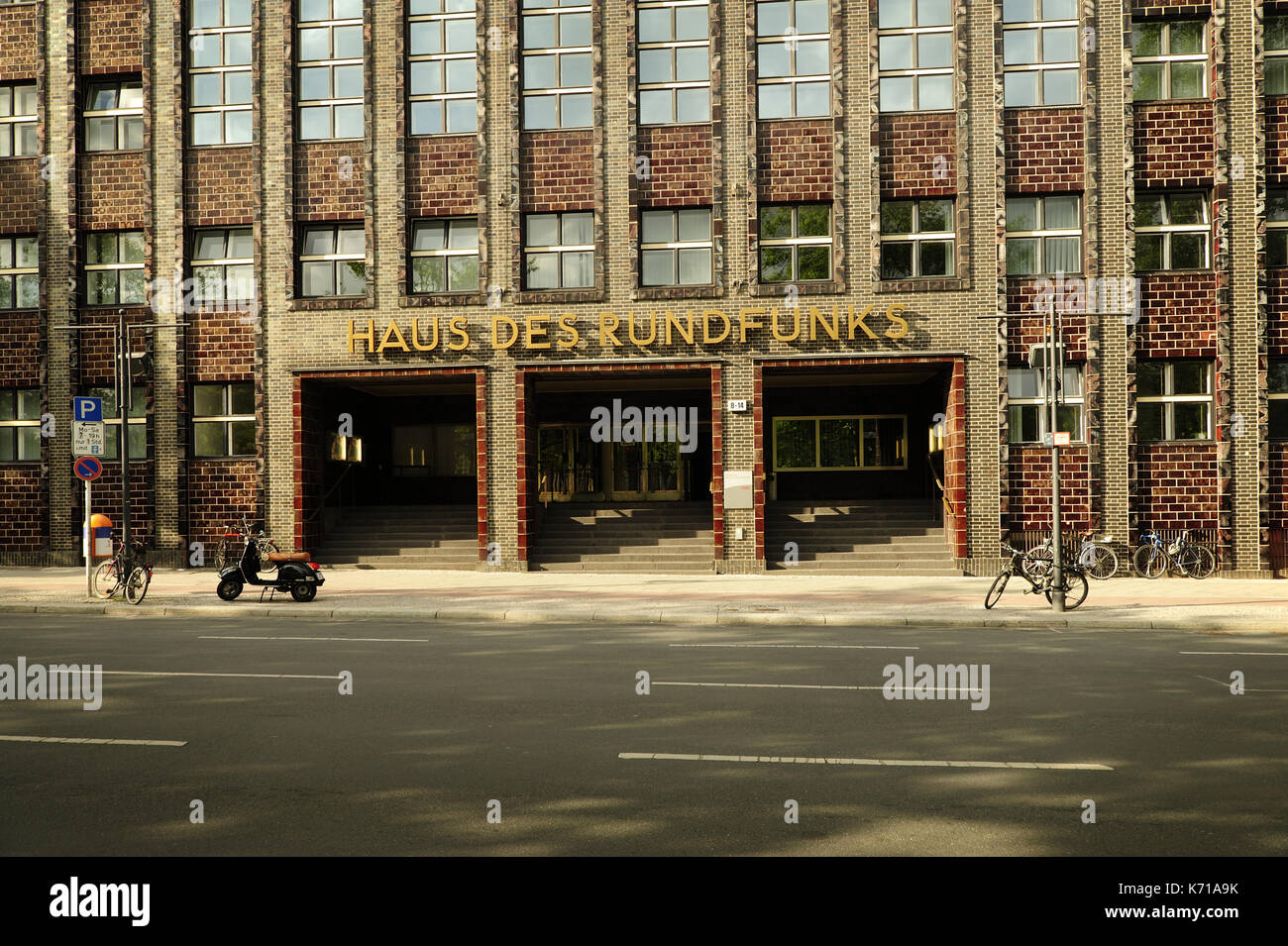 Berlin, architecture, haus des rundfunks berlin, Hans Poelzig,House of Broadcasting, RBB, - Stock Image