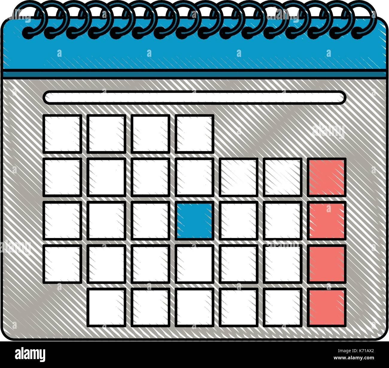 blank calendar icon image  Stock Vector
