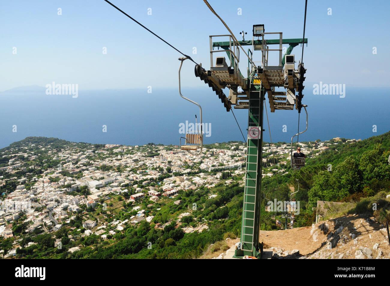 chair lift monte solaro island of capri amalfi coast campania