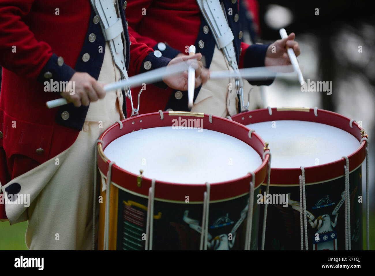 Members of the U.S. Army Old Guard Fife and Drum Corps - Stock Image