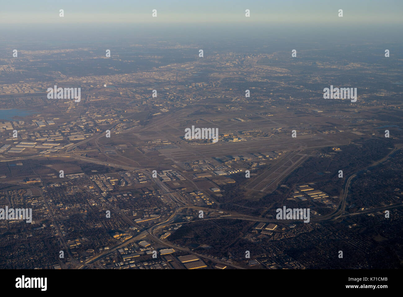 Dallas Fort Worth (DFW) airport (Aerial) - Stock Image