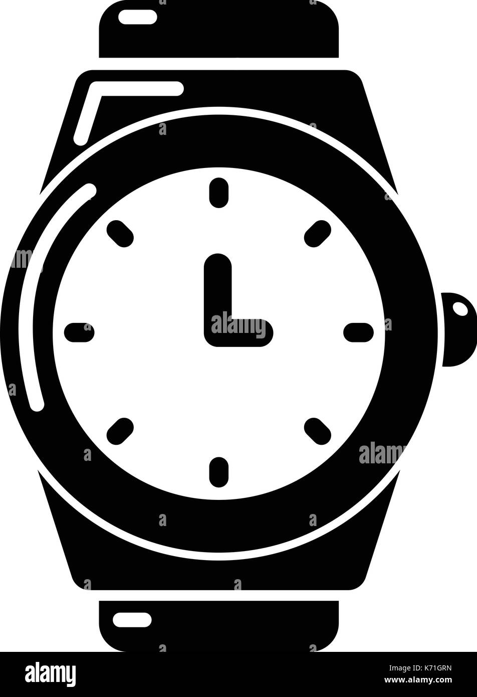 Wristwatch icon , simple style - Stock Image