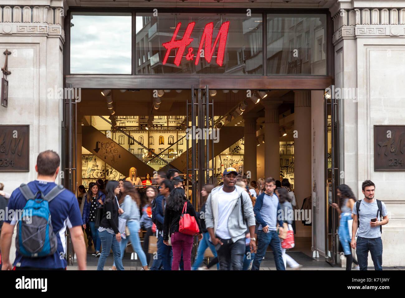 The H&M store on Regent Street, London, England, U.K. Stock Photo
