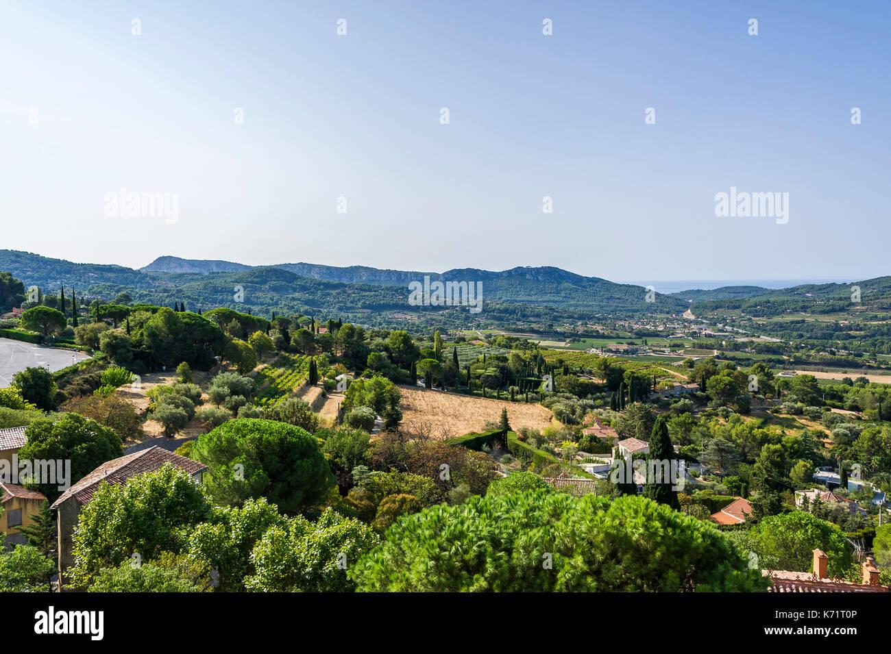 paysage. Le Castellet, Var, France 83 - Stock Image