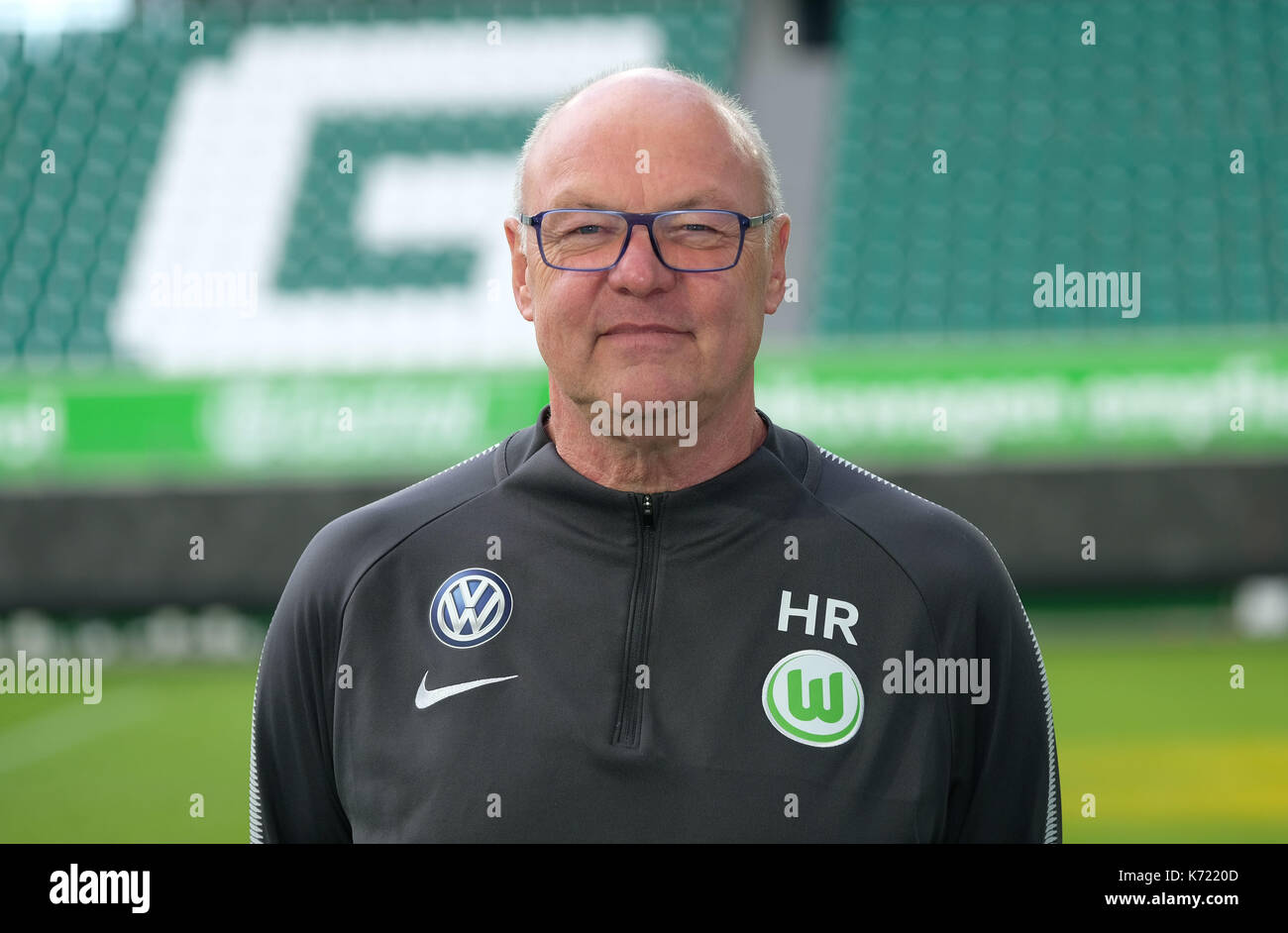 Wolfsburg, Germany. 13th Sep, 2017. German Bundesliga, official photocall VfL Wolfsburg for season 2017/18 in Wolfsburg, Germany: kitman Heribert Ruettger. | usage worldwide Credit: dpa/Alamy Live News - Stock Image
