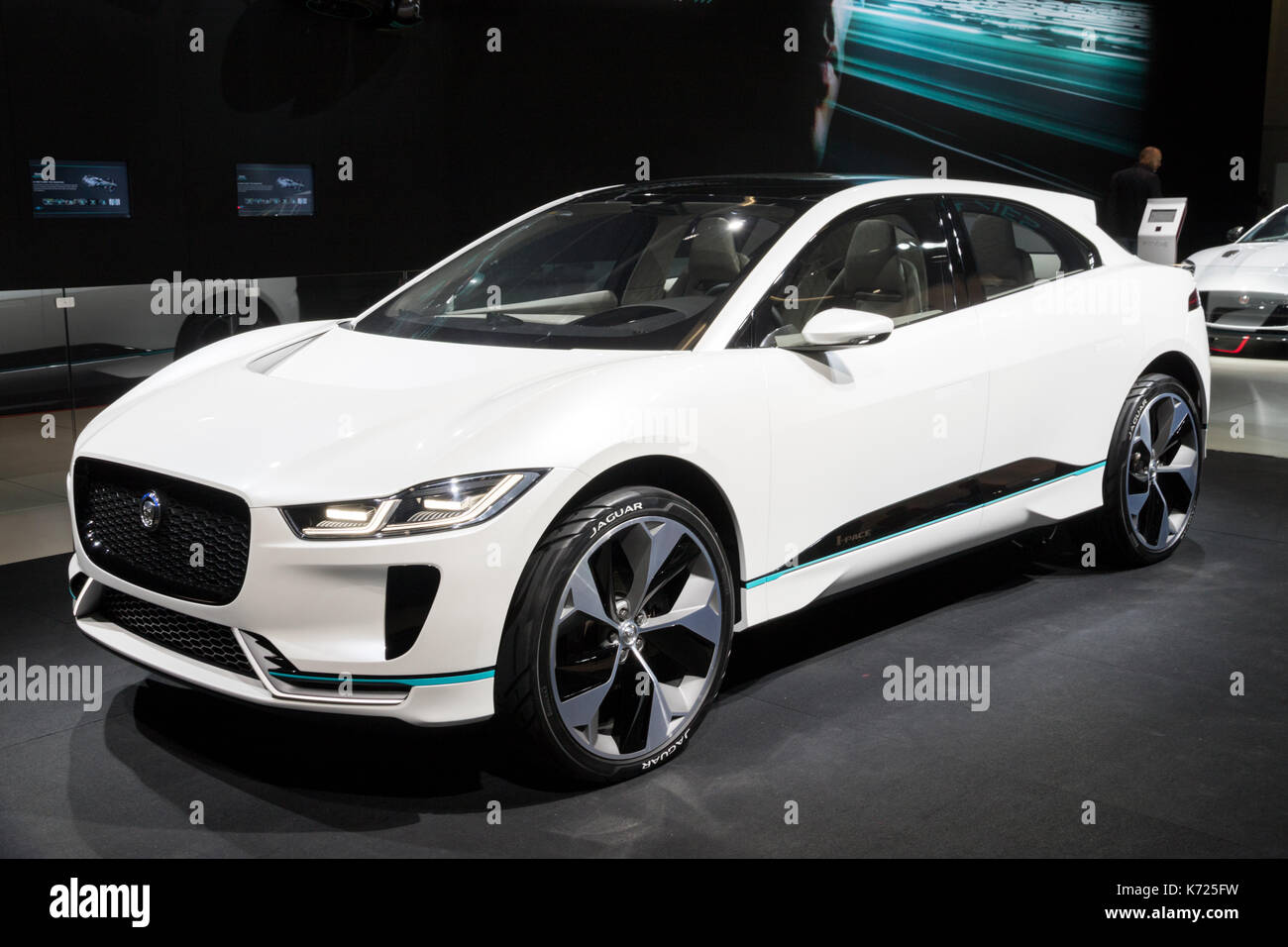 Frankfurt, Germany. 12th Sep, 2017. New 2018 Jaguar I Pace Concept Electric  SUV Car Showcased At The Frankfurt IAA Motor Show 2017.