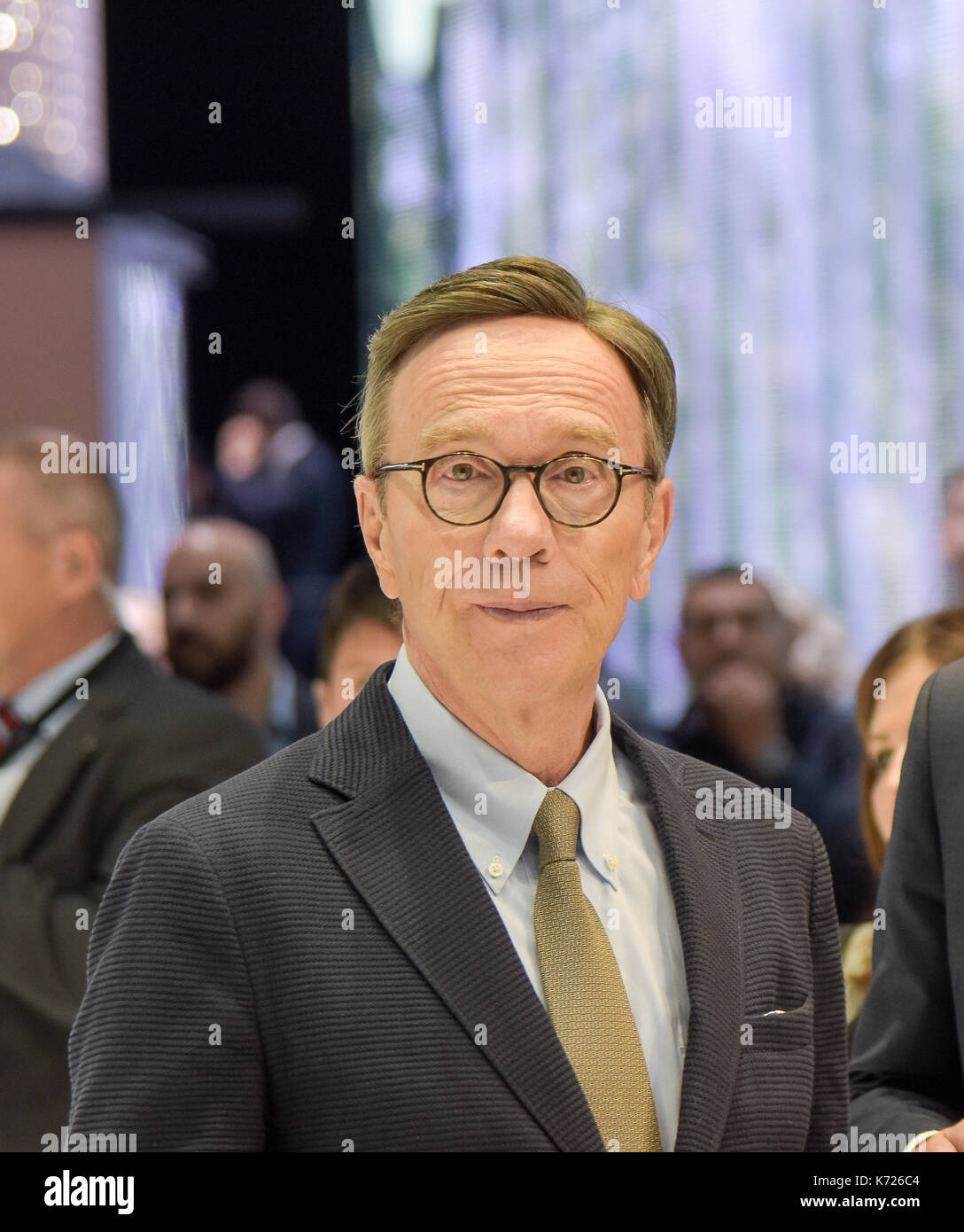 Frankfurt, Germany. 14th Sep, 2017. Matthias Wissmann at the 67th IAA International Motor Show in Frankfurt/Main Stock Photo