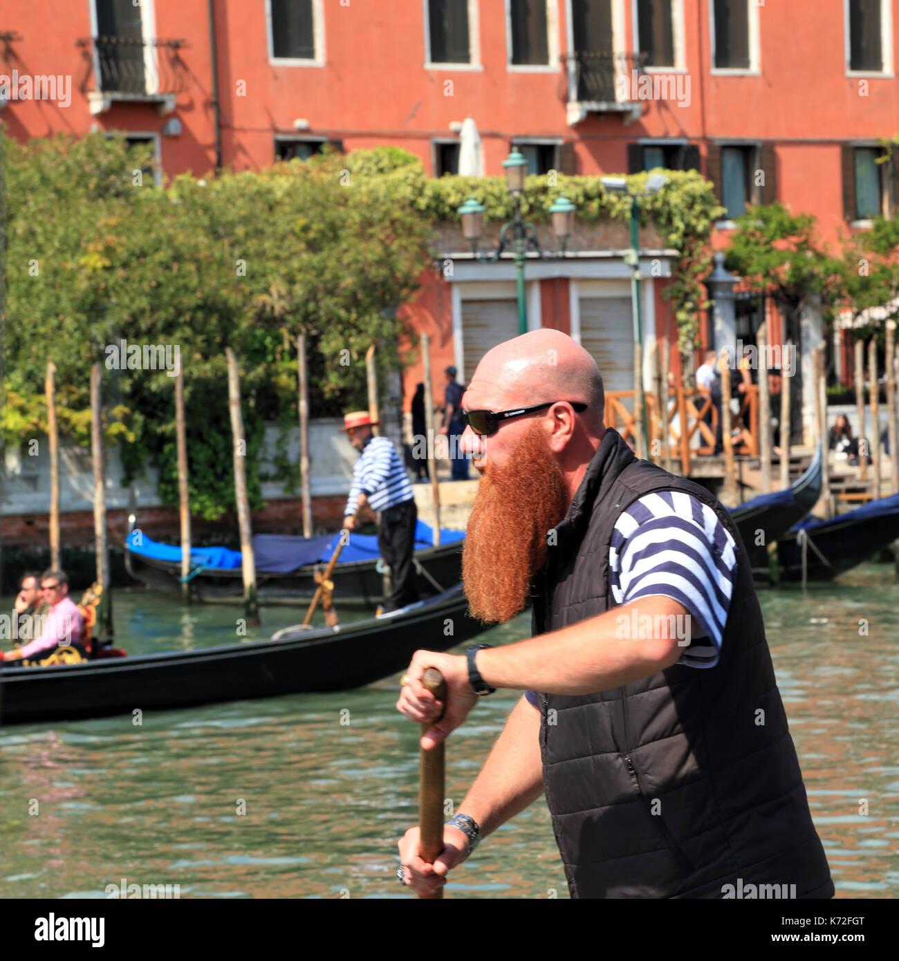 Gondolier in Venice - Stock Image