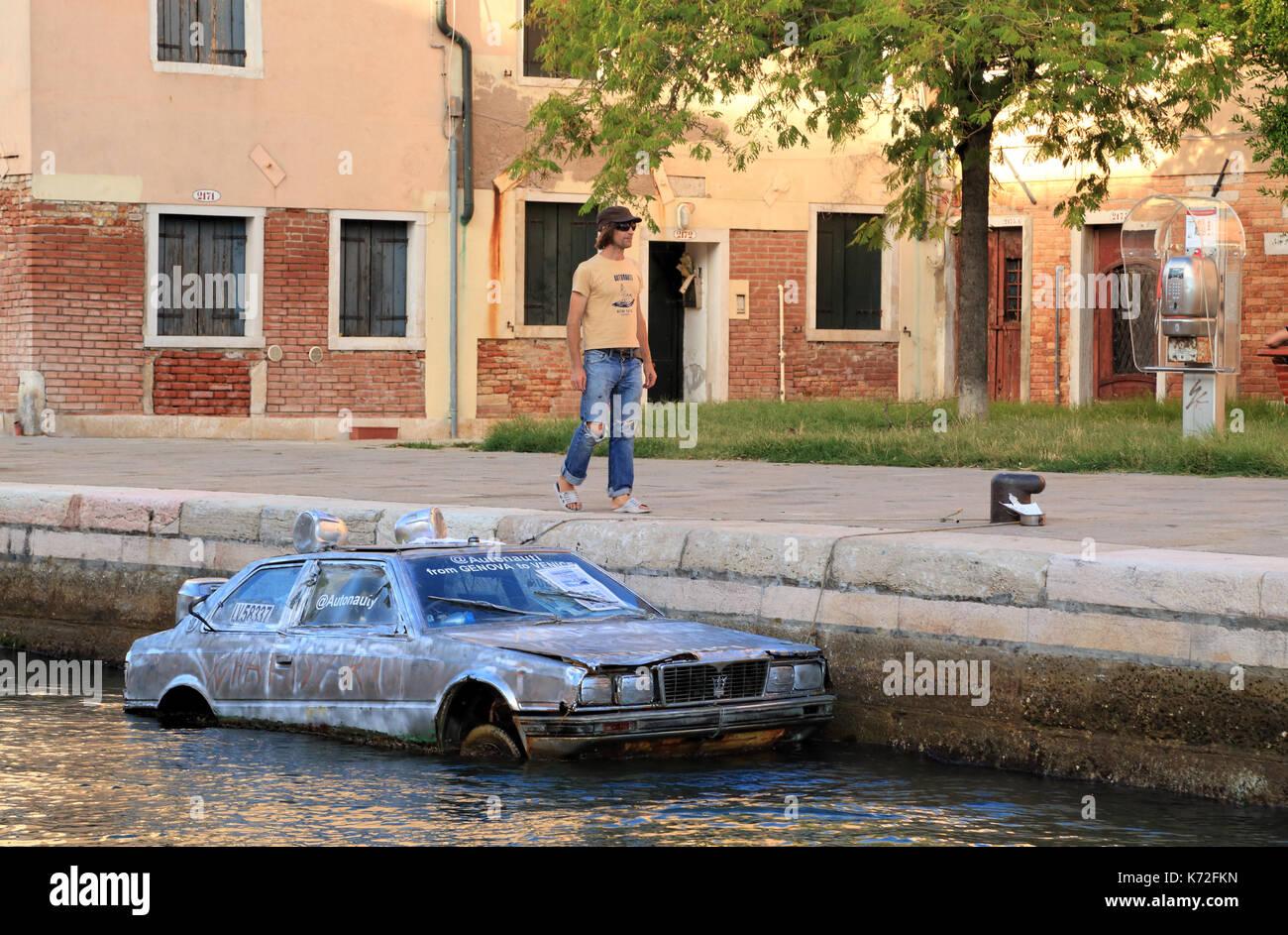 Autonauta Marco Amoretti, La Biennale di Venezia 2017 - Stock Image