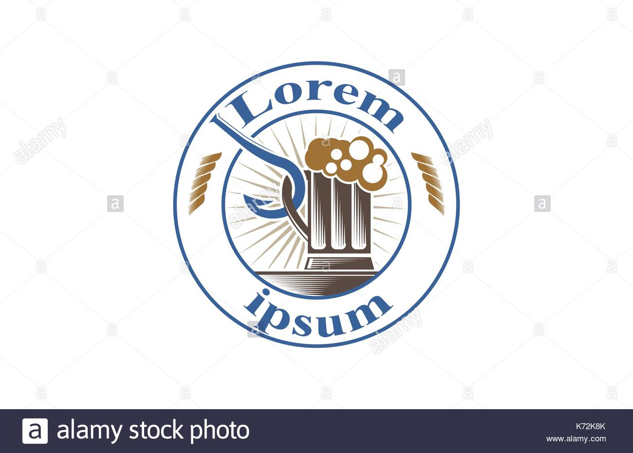 Icon for distilleries and beer industry - Stock Image