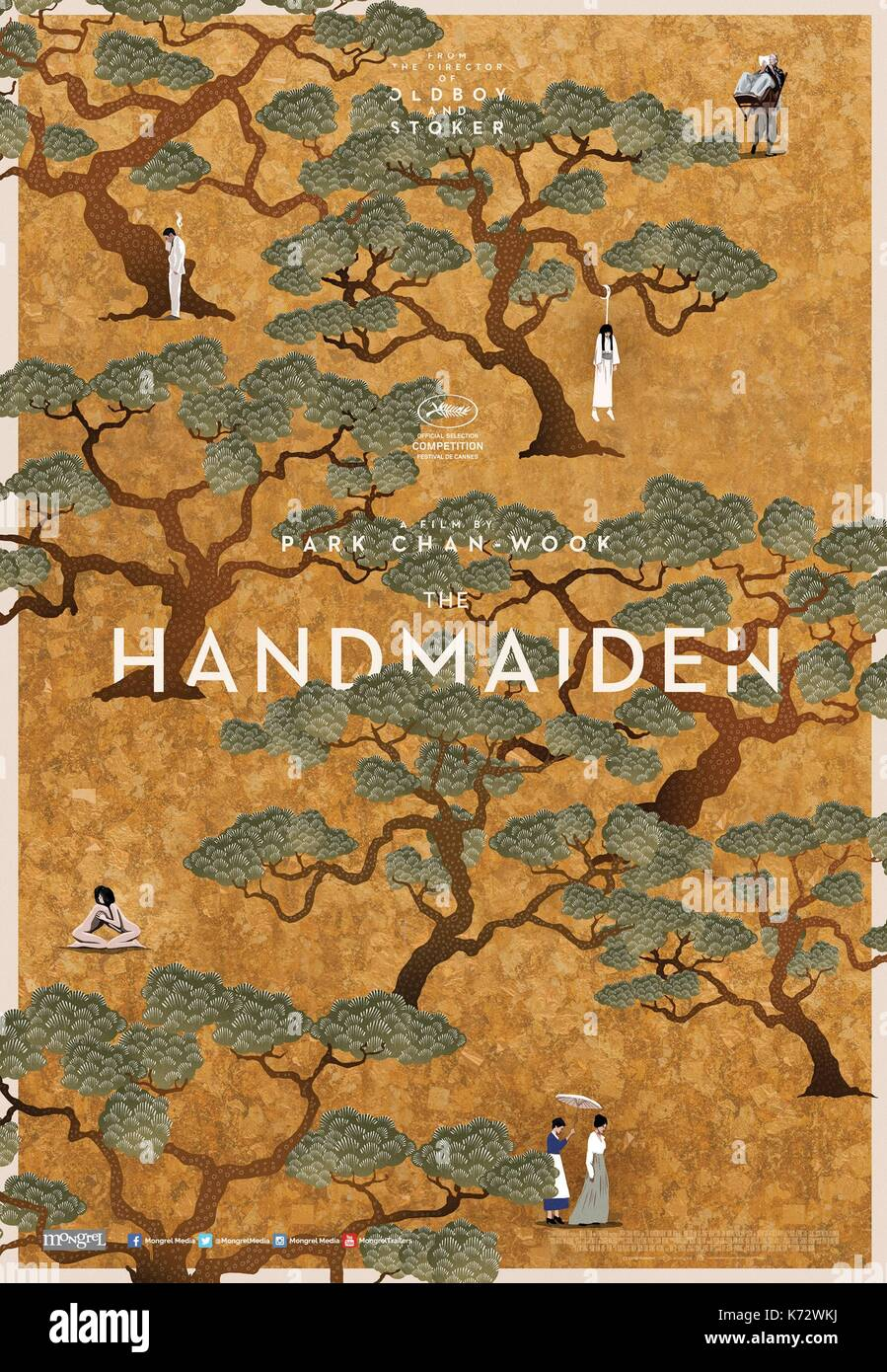 The Handmaiden  Ah-ga-ssi  Year : 2016 South Korea  Director : Chan-wook Park  Movie poster (USA)    .  It is forbidden to reproduce the photograph out of context of the promotion of the film. It must be credited to the Film Company and/or the photographer assigned by or authorized by/allowed on the set by the Film Company. Restricted to Editorial Use. Photo12 does not grant publicity rights of the persons represented. - Stock Image