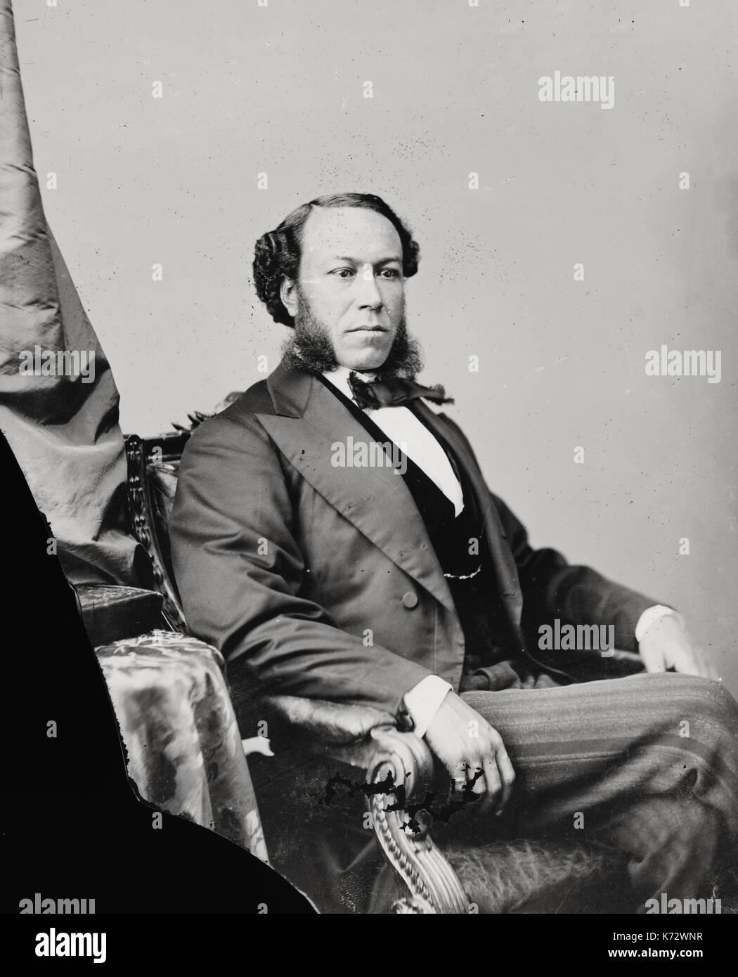 Joseph H. Rainey, African American Representative from South Carolina, circa 1875 - Stock Image