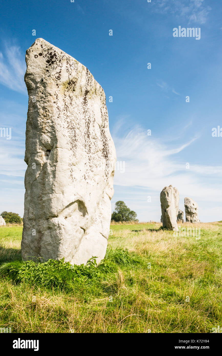 Standing stones of Avebury stone cirlce - Stock Image