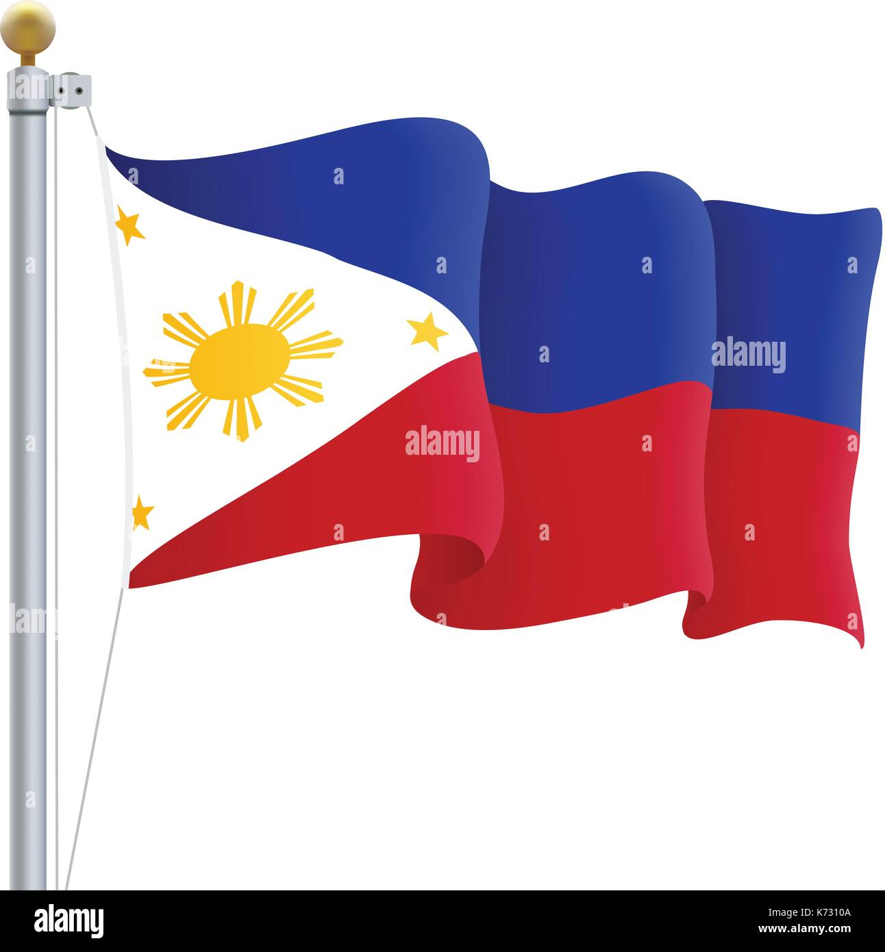 philippines flag stock vector images - alamy