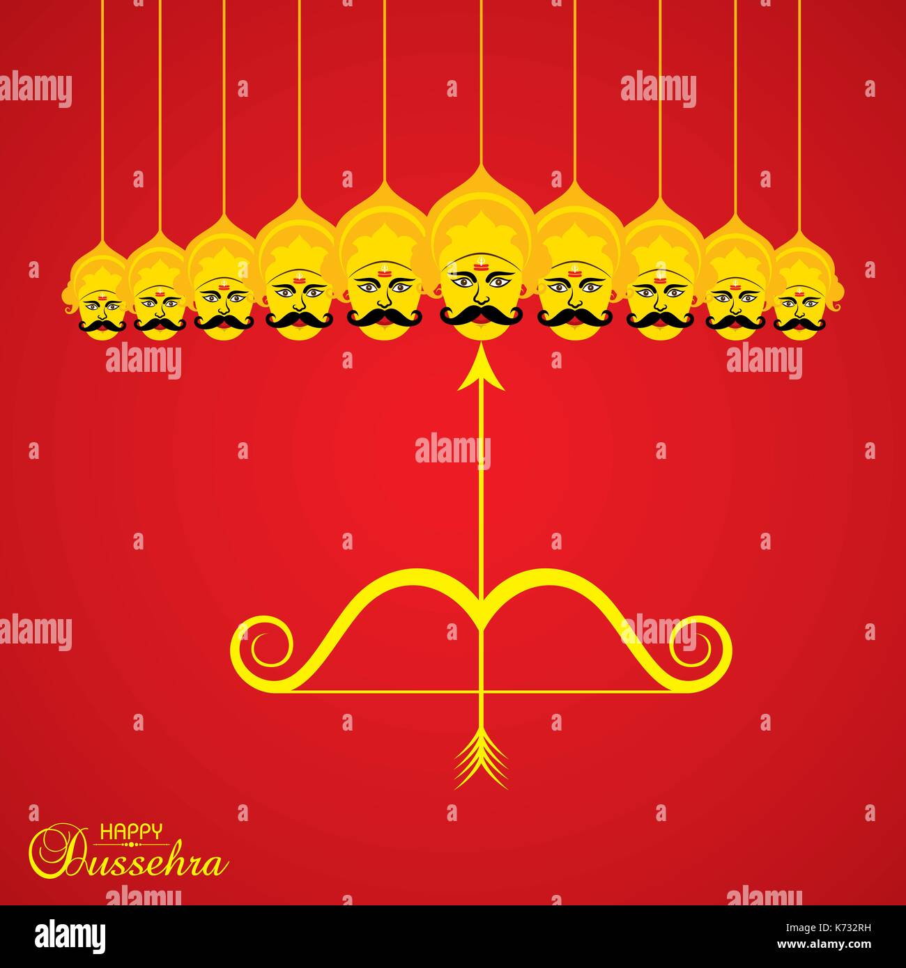 Dussehra stock photos dussehra stock images alamy dussehra festival greeting or poster design stock stock image kristyandbryce Images