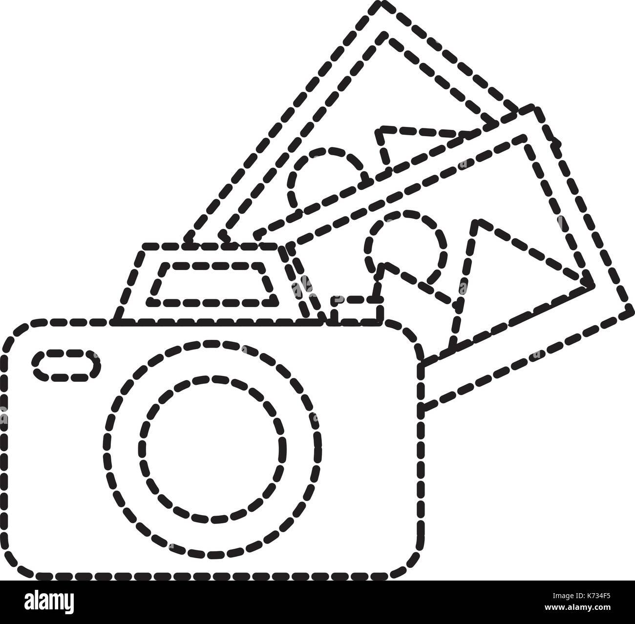 photographic camera photo gallery app - Stock Vector