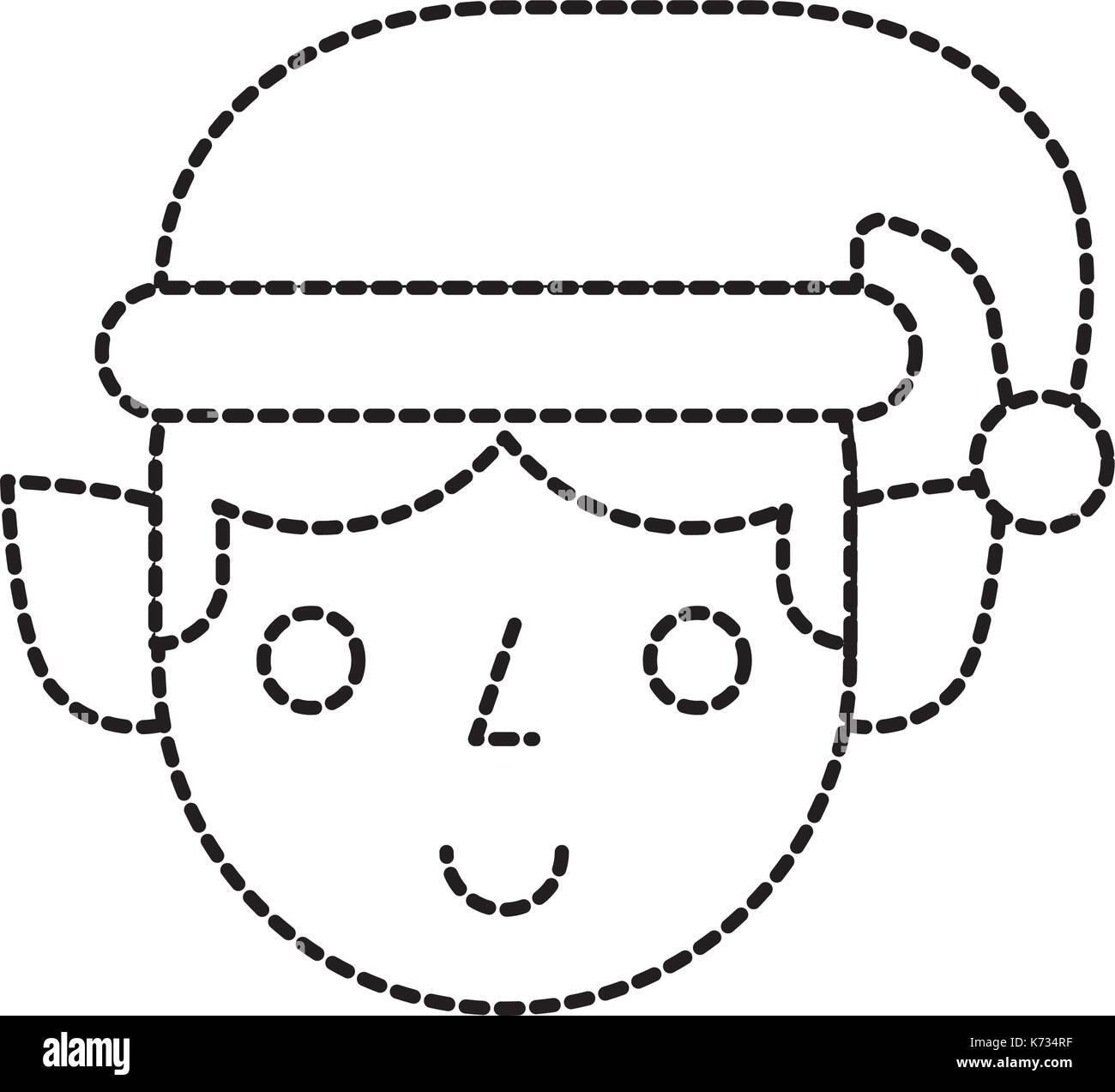 christmas elf cartoon character santa helper Stock Vector