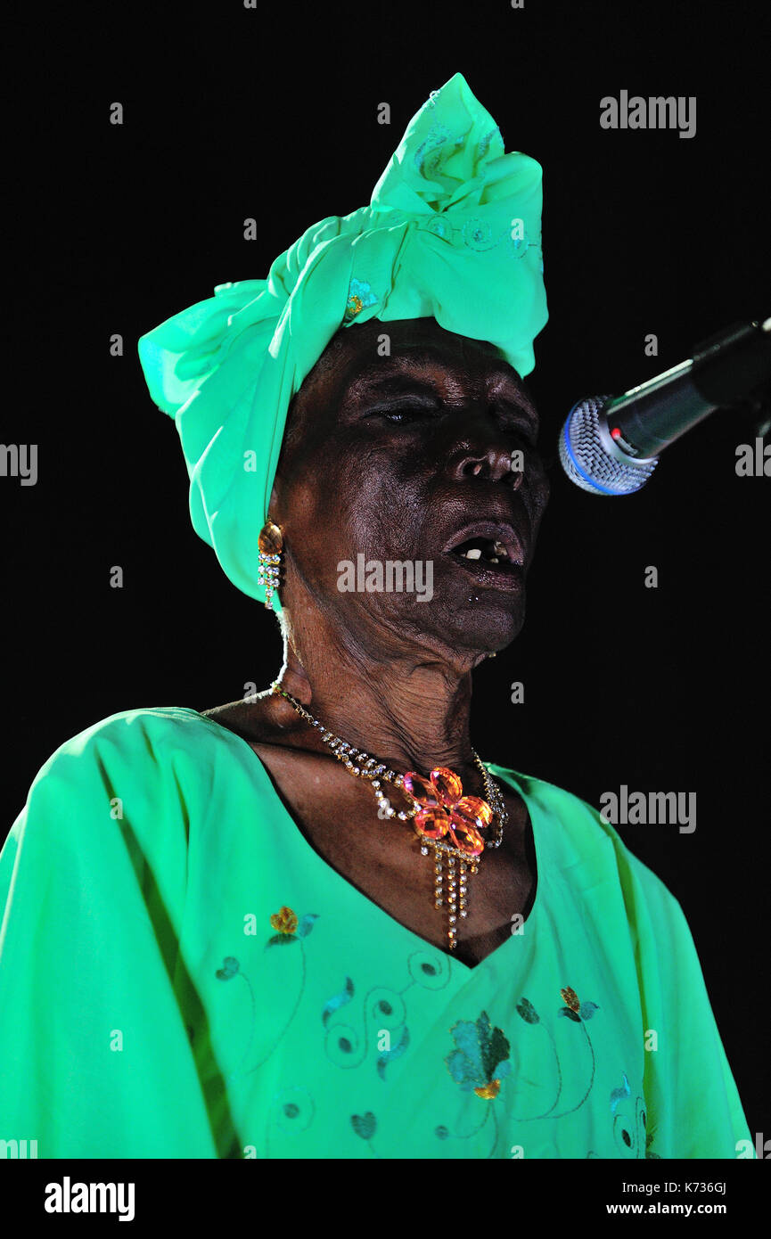 Bi Kidude, Fatuma binti Baraka (born 1910 in Zanzibar Sultanate, 17 April 2013) is a Tanzanian singer, representative Stock Photo