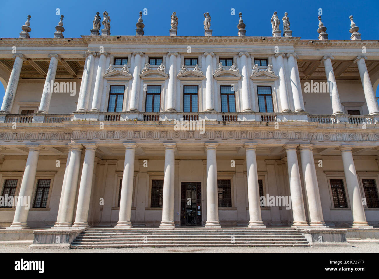 Palazzo Chiericati, palace and art museum in Vicenza, Italy - Stock Image
