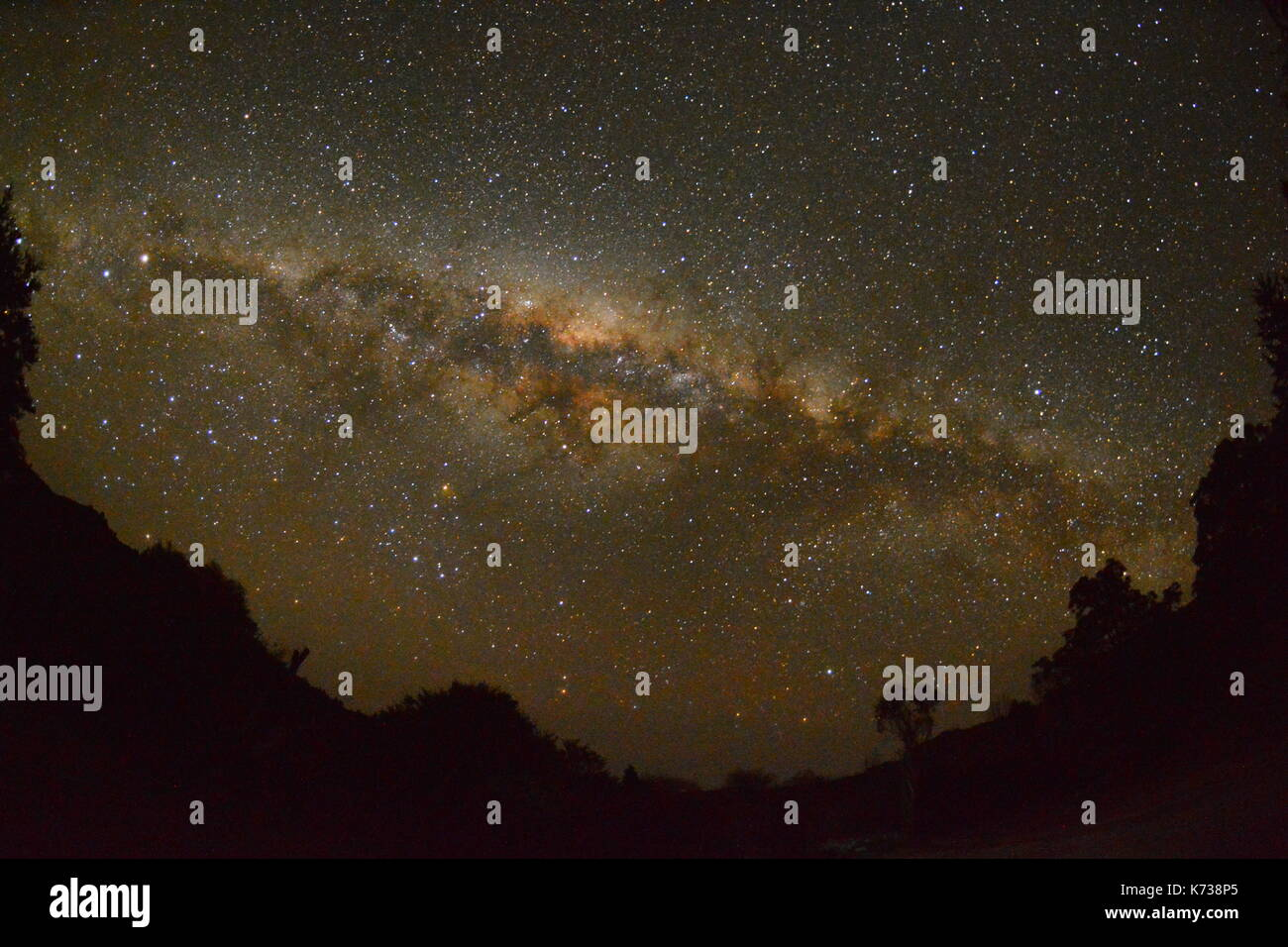 Galactic Center with no filter - Stock Image