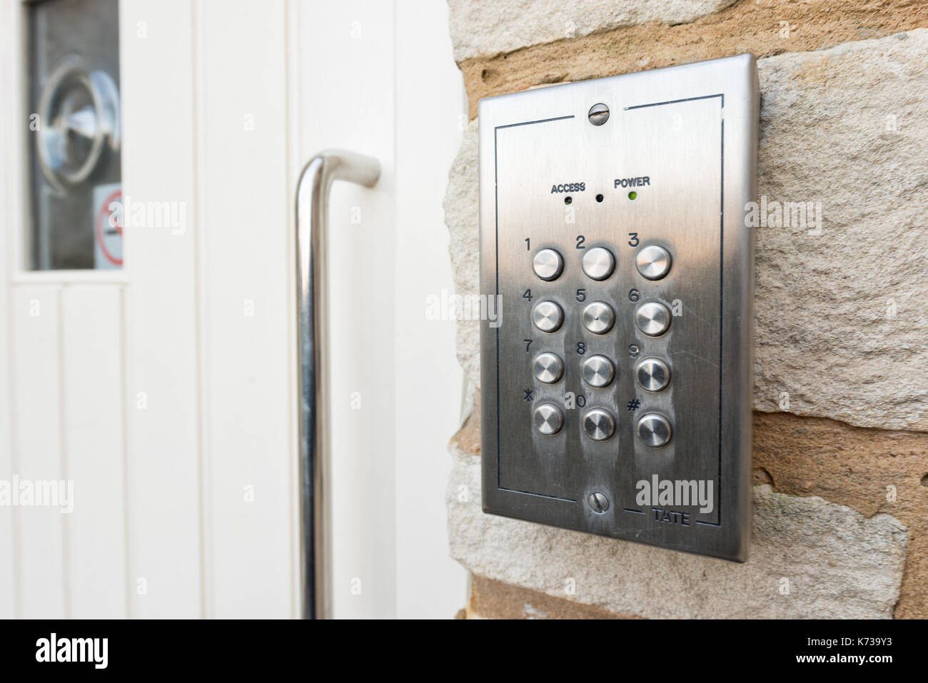 The Keypad Of A Door Entry Security System At A Residential Home In