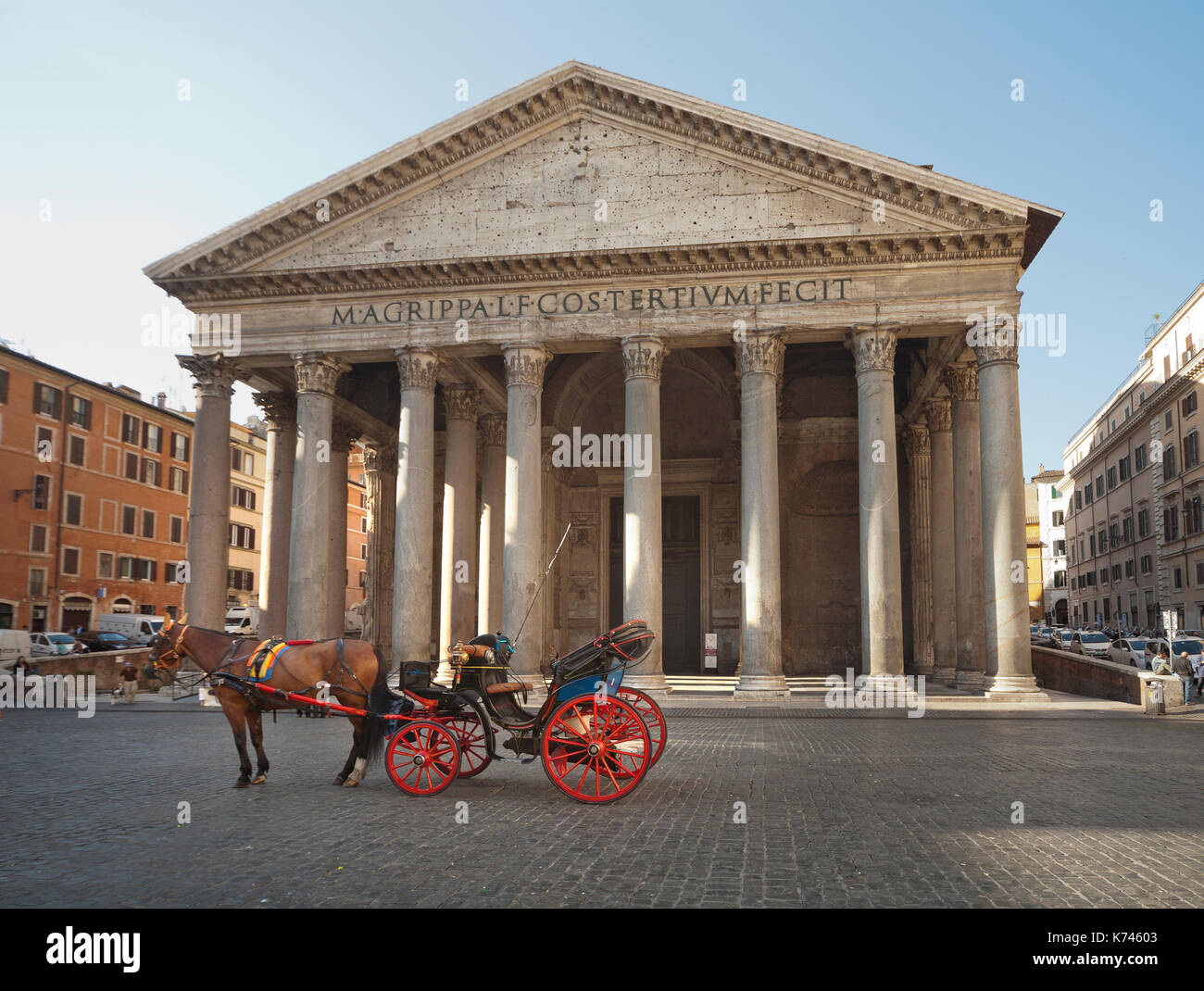 Pantheon - Rome, Italy, Rome. Capital Cities, Church - Stock Image