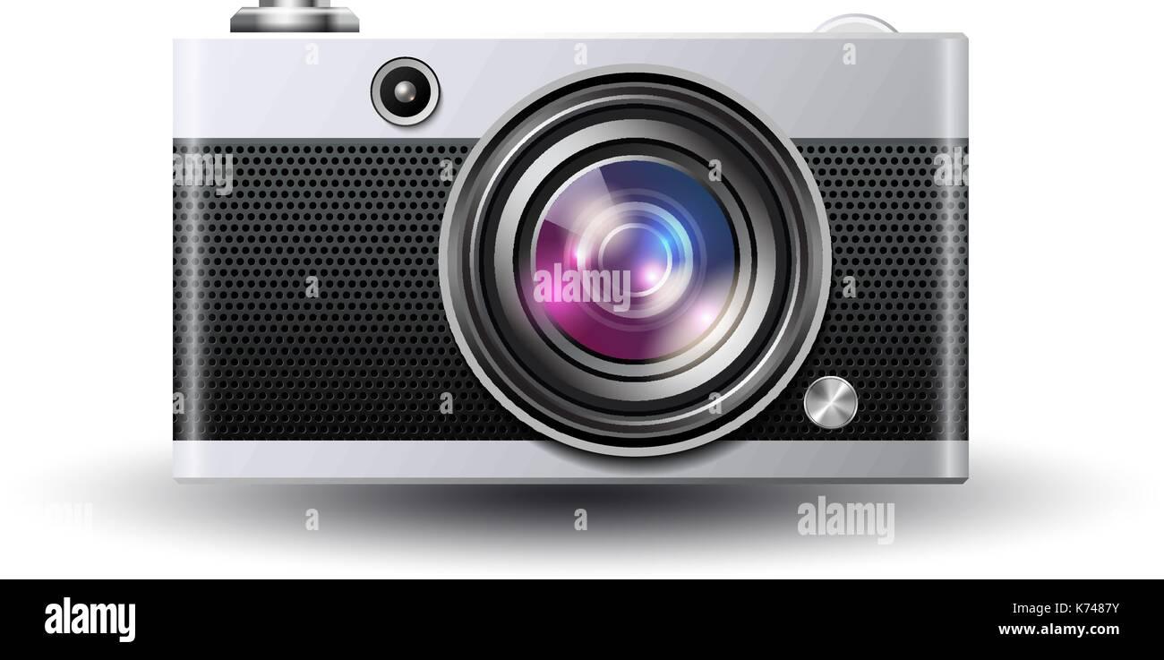Vector photocamera icon - Stock Vector