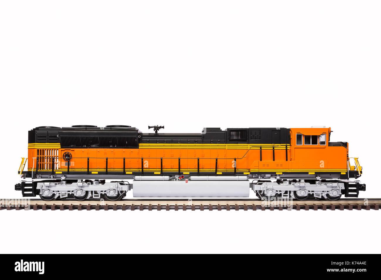 Railroad Train Locomotive - Stock Image