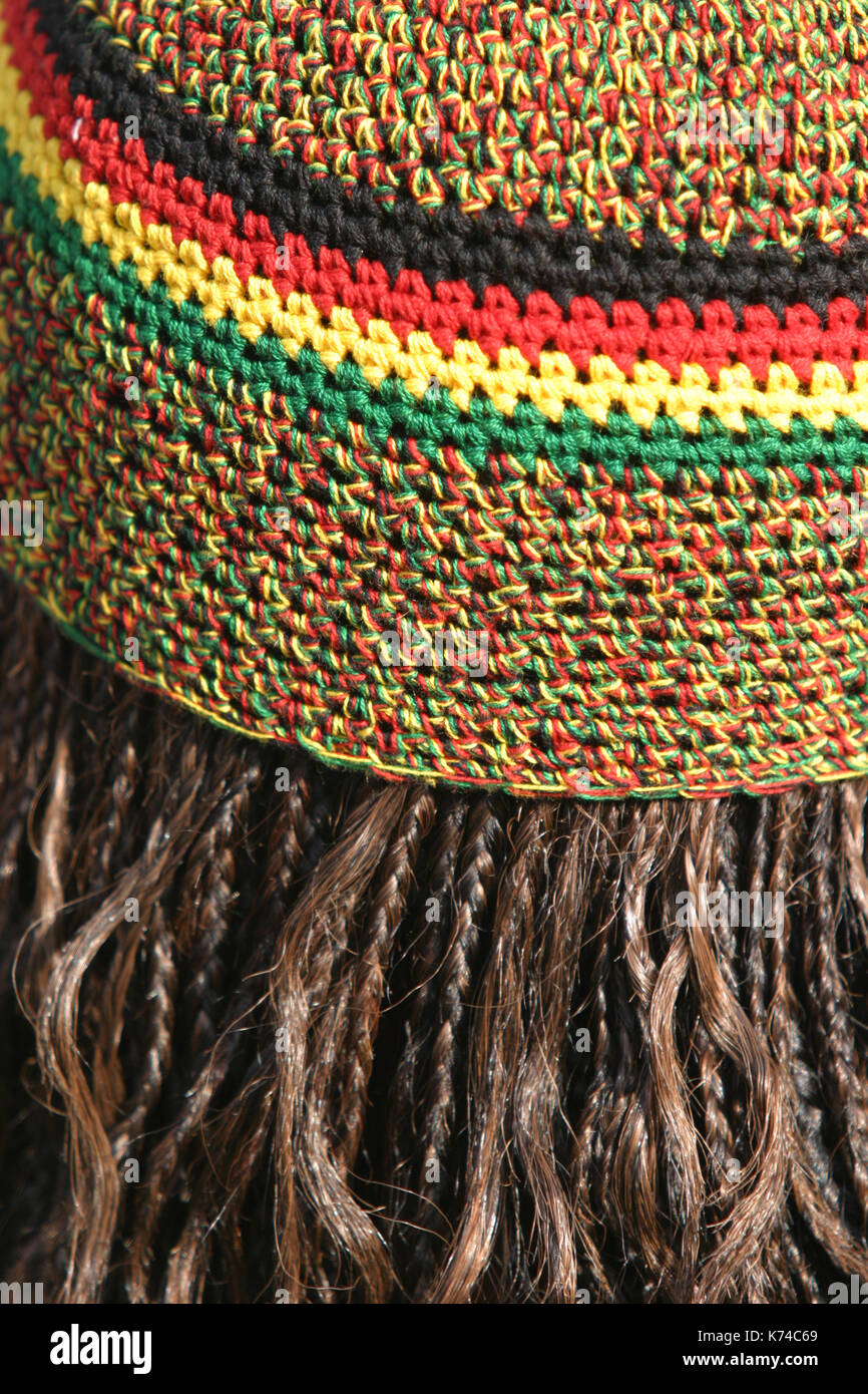 Rasta Hat With Hair Stock Photos   Rasta Hat With Hair Stock Images ... 2b27d7ab3a43