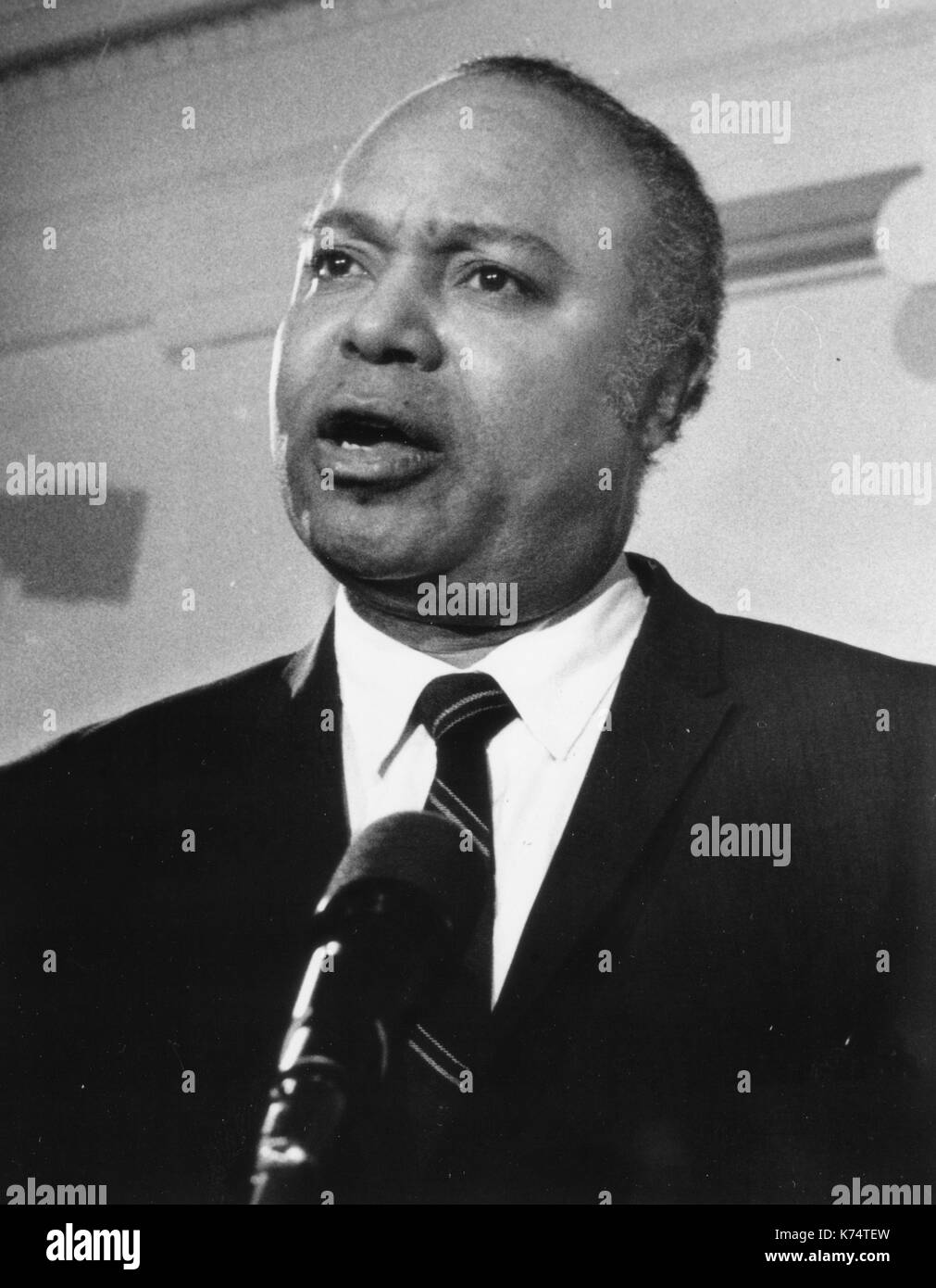 James Farmer, civil rights activist, co-founder of CORE (Congress of Racial Equality) and Assistant Secretary of the Department of Health, Education & Welfare during Richard Nixon's first term, Washington, DC, 1969. - Stock Image