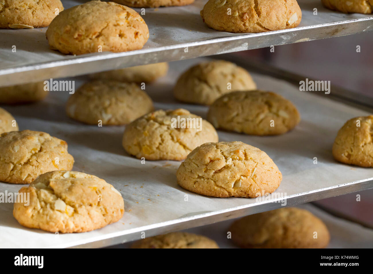 Pastry: almond biscuits - Stock Image