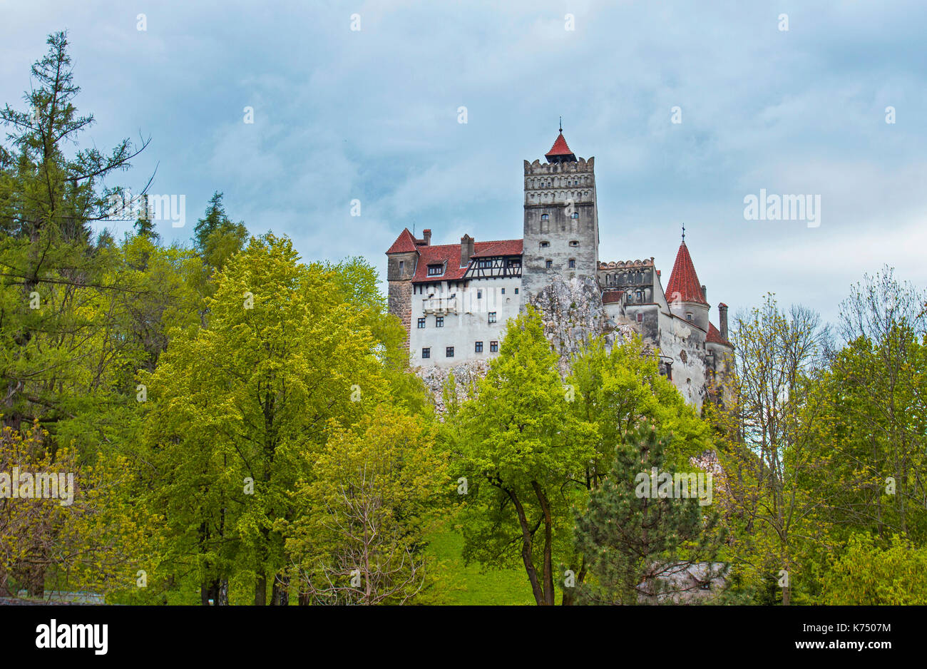 Bran Castle, Draculla Castle, Bran, Brasov County, Carpathian Mountains, Transylvania, Romania - Stock Image