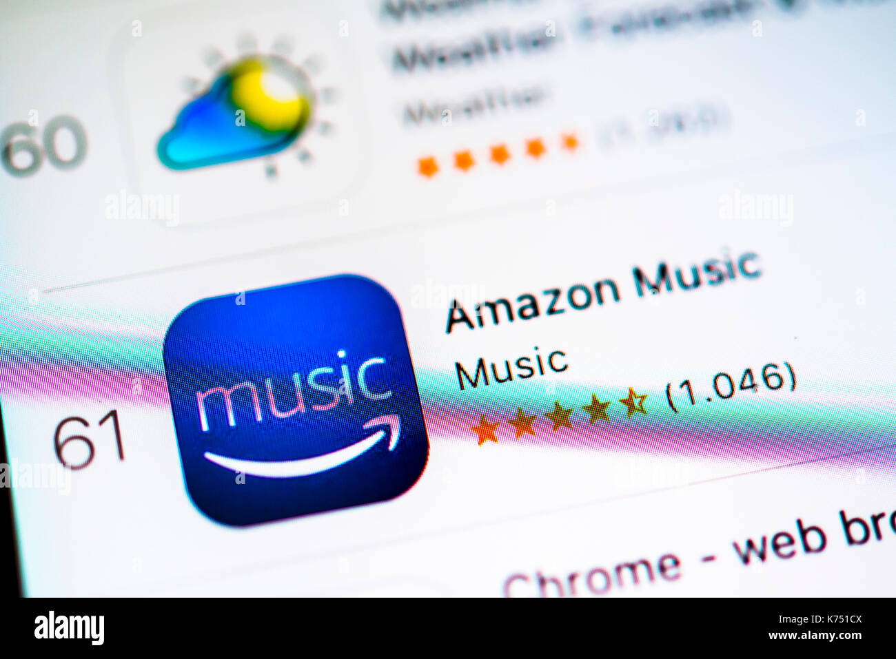 Amazon Music App in the Apple App Store, music streaming
