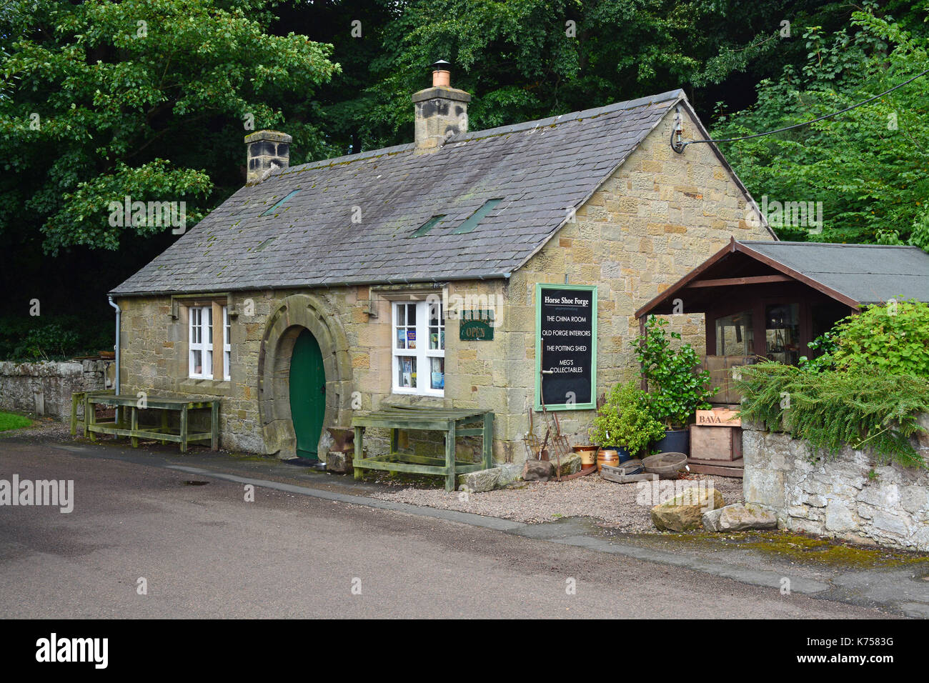 Horseshoe Forge, Ford, Northumberland - Stock Image