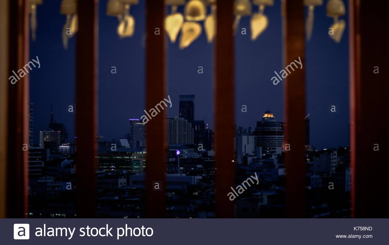 Bangkok City at Night, Thailand - Stock Image