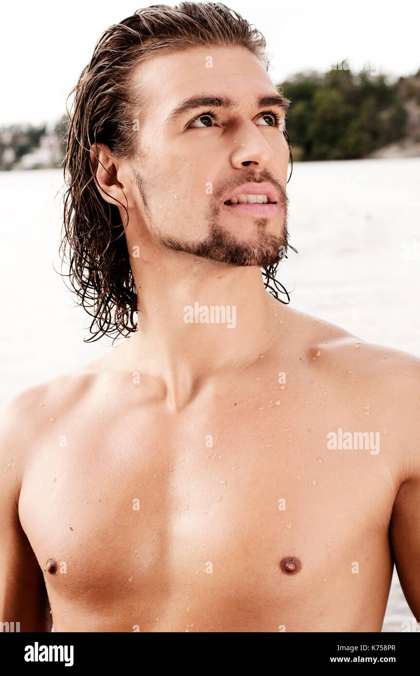 Handsome Male Model Stock Photo Alamy