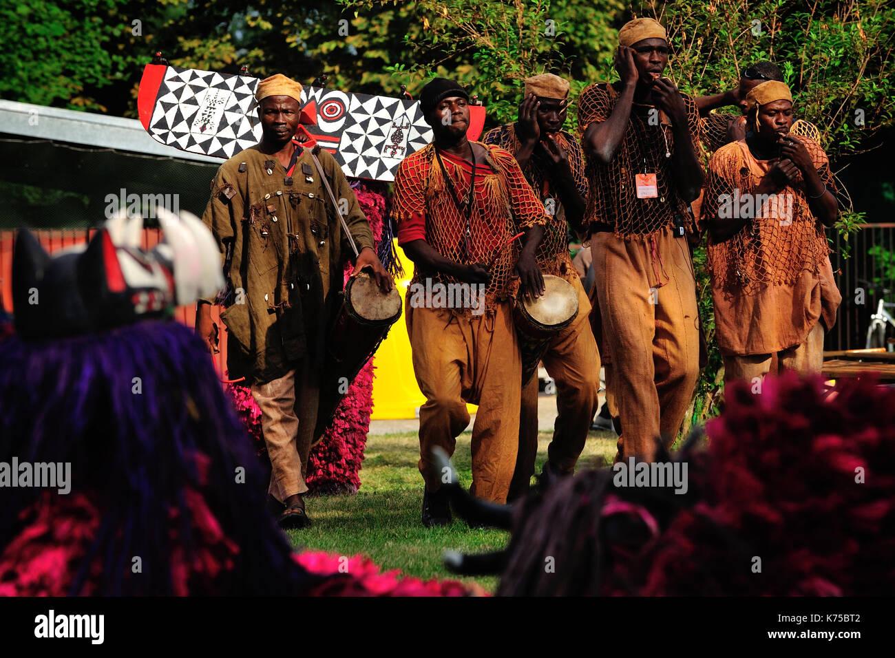 Wicked Masks of Burkina Faso, Nuna, Africa, Ethnography, Hermetic, people, ritual, - Stock Image