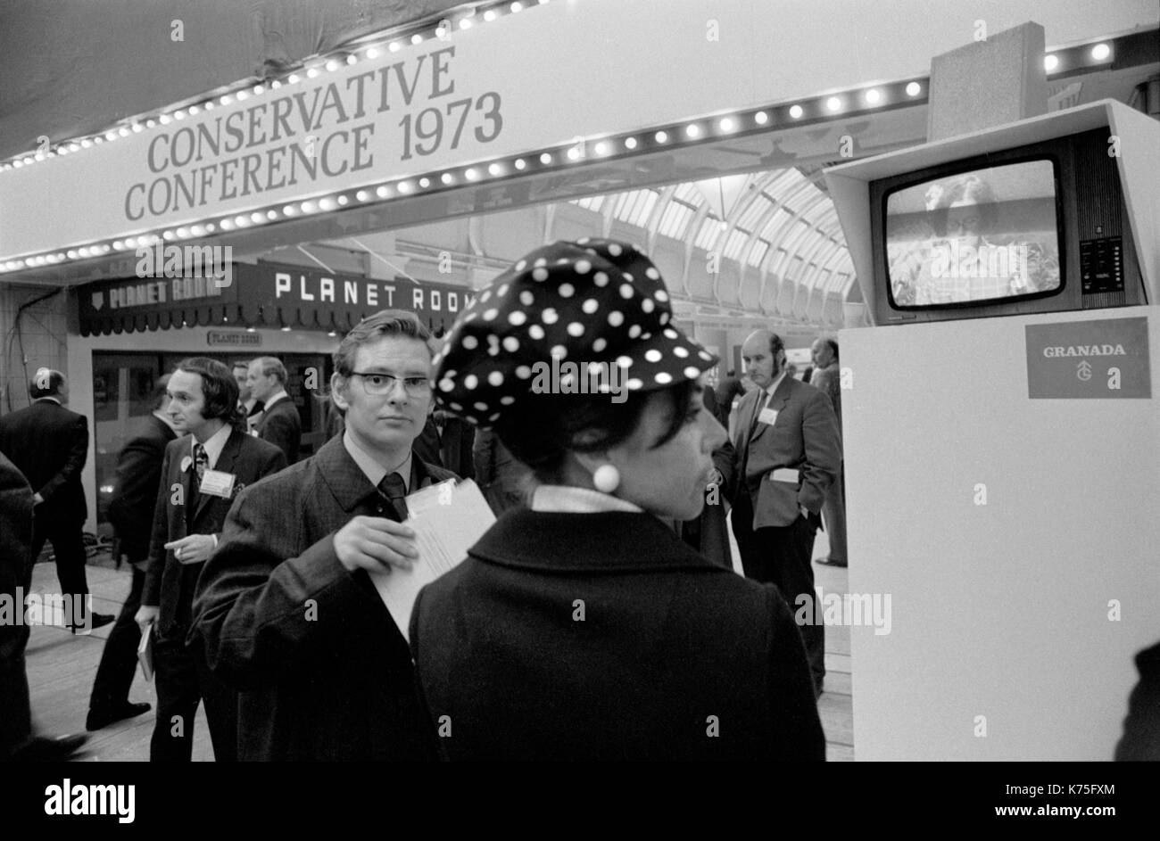 Conservative Party Conference Blackpool Winter Gardens 1973 UK 1970s England HOMER SYKES - Stock Image