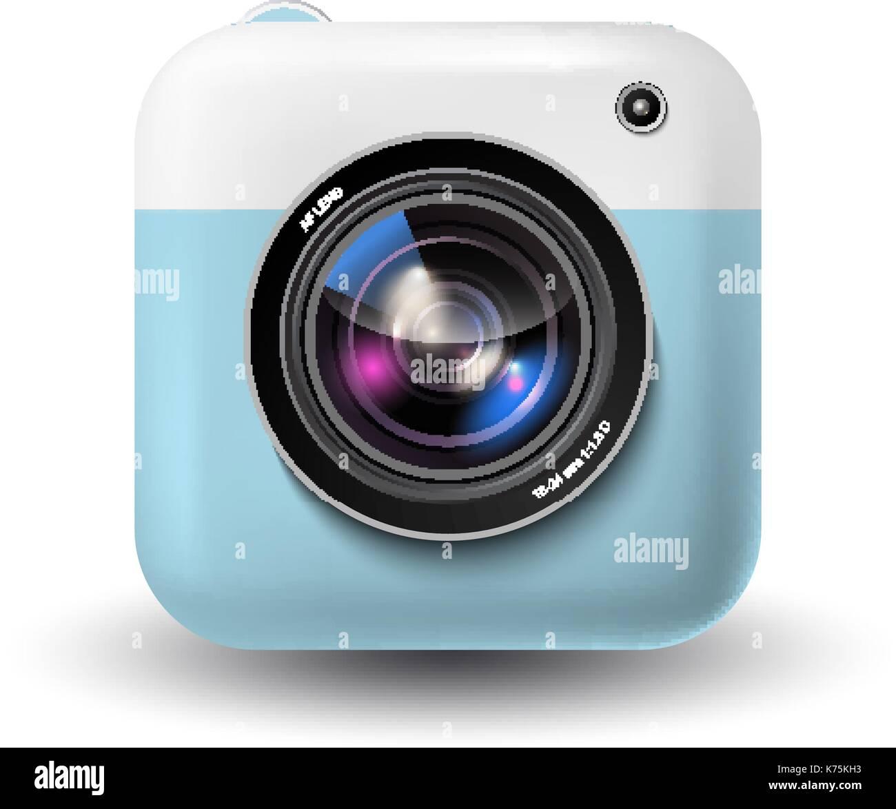 Vector instant camera icon Stock Vector