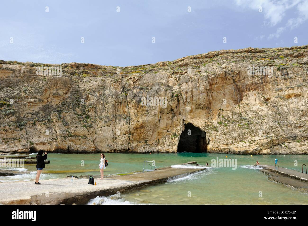 Malta, Island of Gozo, Dwejra, Inland Sea - Stock Image