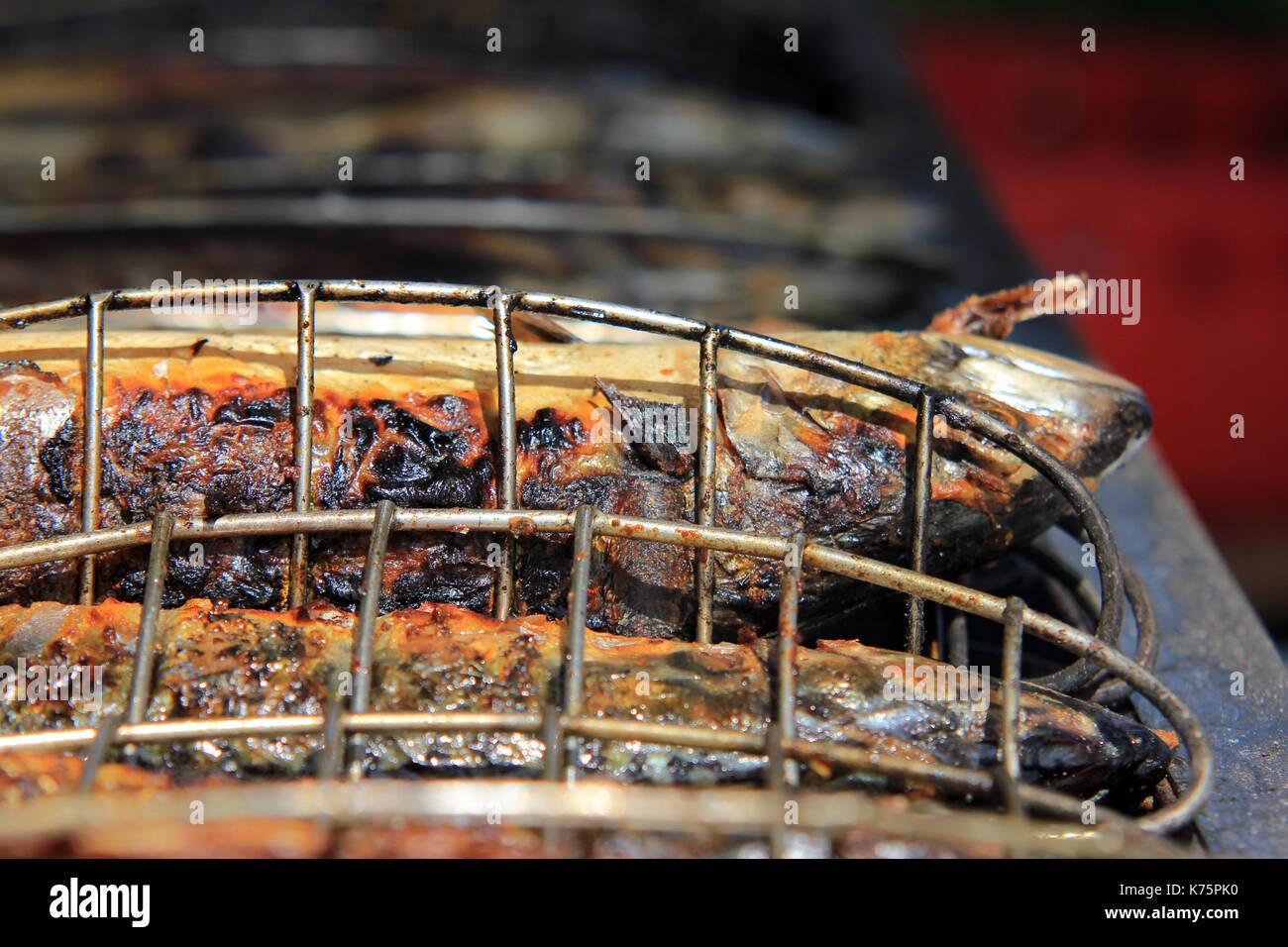 grillfisch beim Volksfest - Stock Image