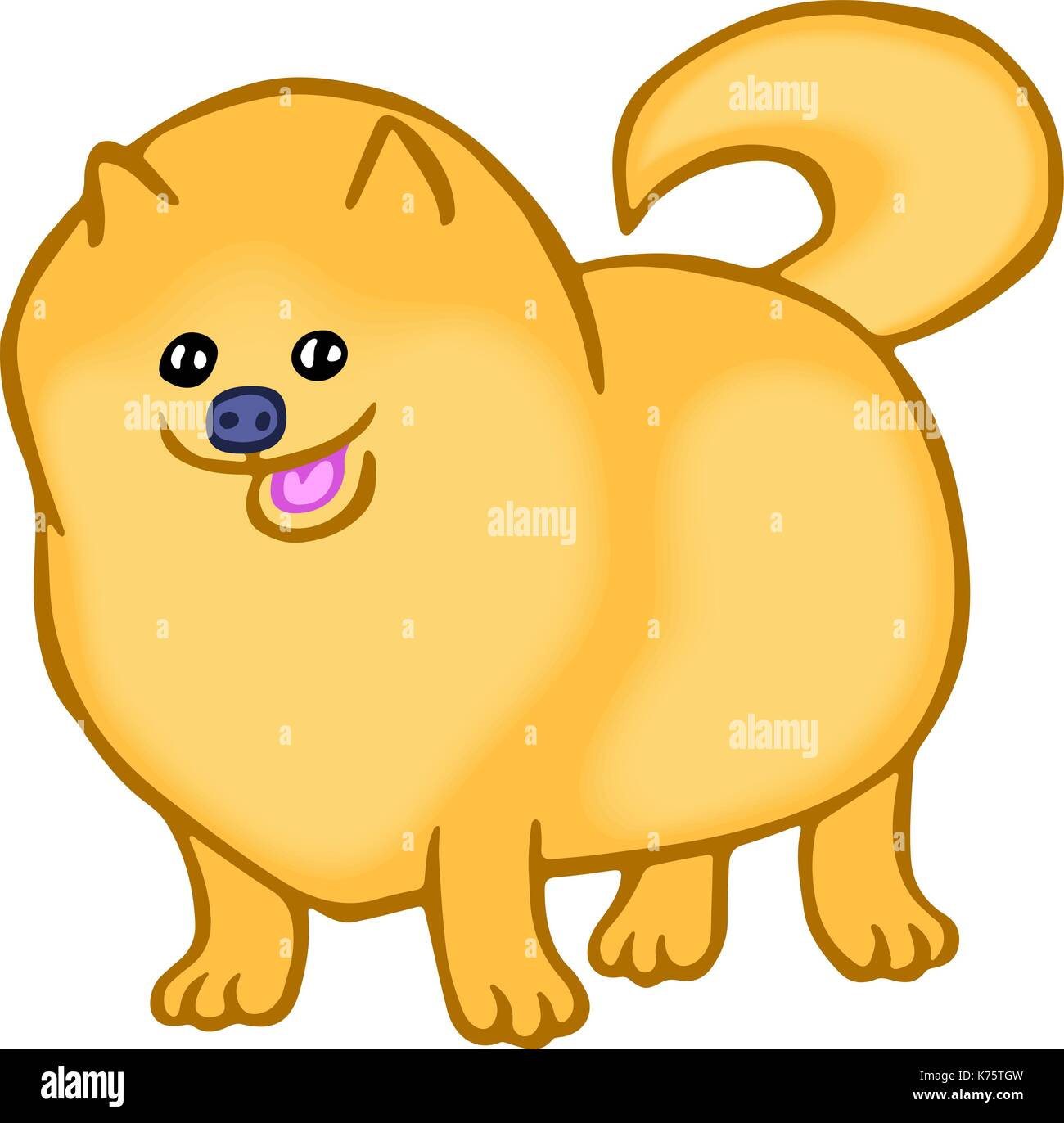 Pomeranian Dog Cartoon Illustration High Resolution Stock Photography And Images Alamy