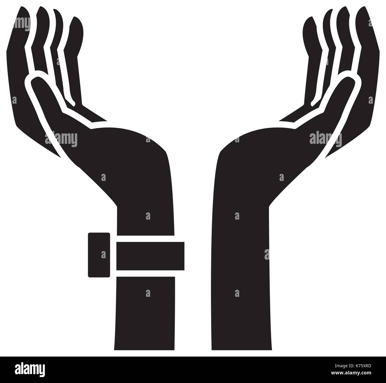Hand holding something - Stock Image